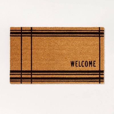 Outdoor Cross Stripes Welcome Coir Doormat - Hearth & Hand™ with Magnolia