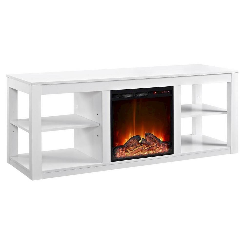 George Fireplace TV Console - White - Room & Joy