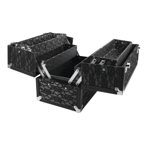 Caboodles Make Me Over 4-Tray Train Case Black Lace - image 1 of 3