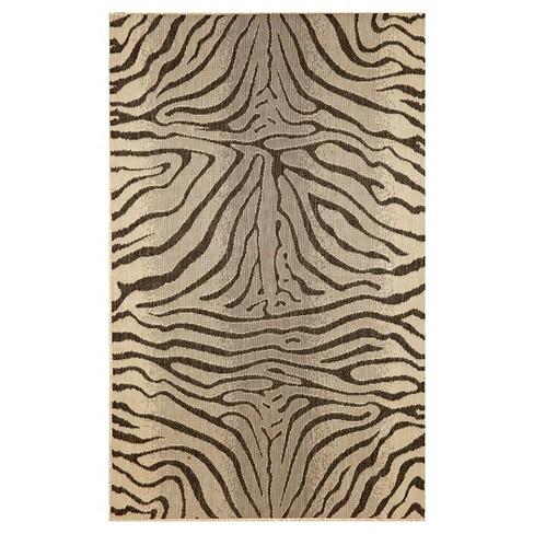 Liora Manne Terrace Zebra Indoor Outdoor Rug Target