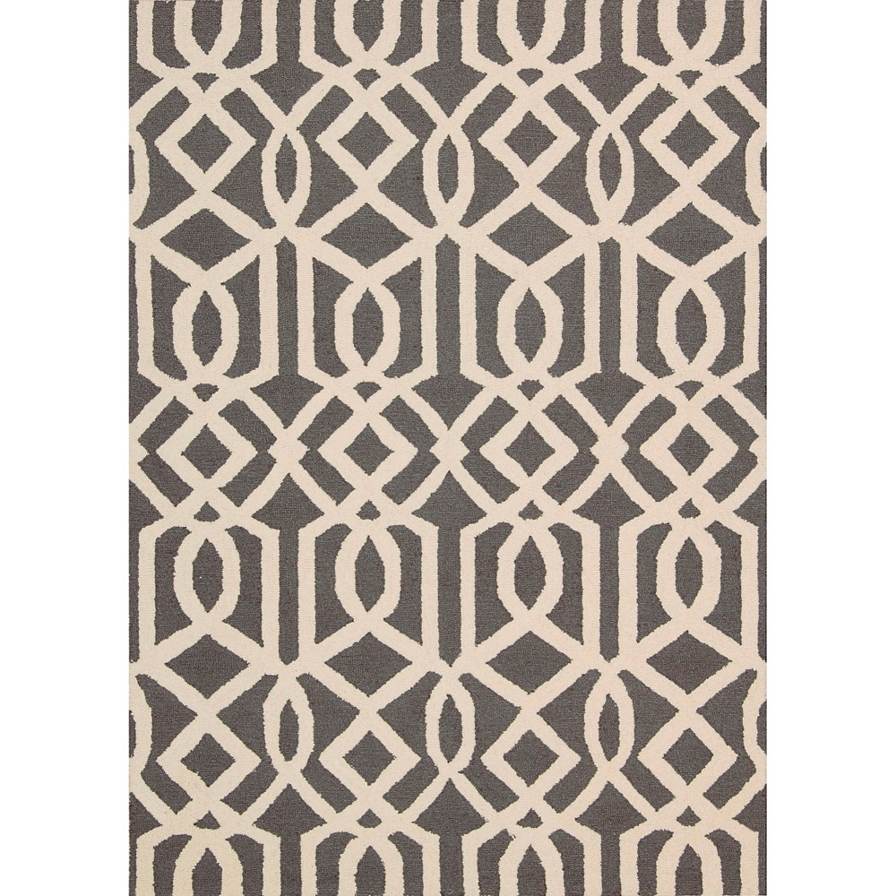 Nourison Tribal Trellis Linear Accent Rug - Gray/Ivory (3'9