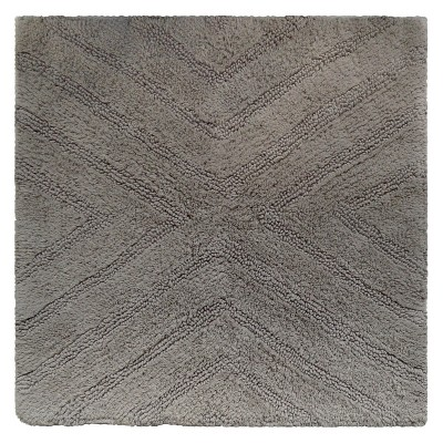 Textured Stripe Square Bath Rug Creamy Chai - Project 62™ + Nate Berkus™