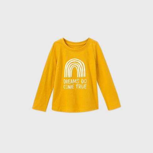 Toddler Girls' Dream Long Sleeve T-Shirt - Cat & Jack™ Gold - image 1 of 2