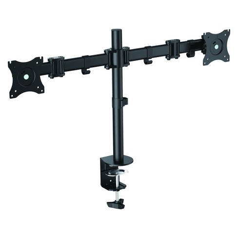 Double Articulated Dual Monitor Desk Mount, Black - image 1 of 4