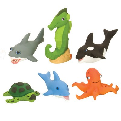 Wild Republic Soft and Squeezable Aquatic Animal Playset