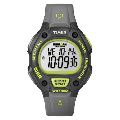 Men's Timex Ironman Classic 30 Lap Digital Watch - Gray/Lime T5K692JT