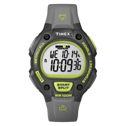 Men's Timex Ironman® Classic 30 Lap Digital Watch - Gray/Lime T5K692JT