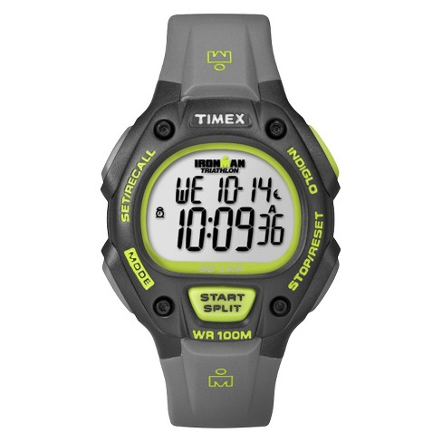 Men's Timex Ironman® Classic 30 Lap Digital Watch - Gray/Lime T5K692JT - image 1 of 1