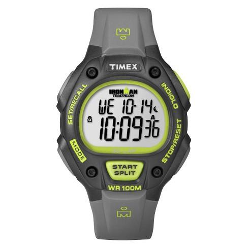 Men's Timex Ironman Classic 30 Lap Digital Watch - Gray/Lime T5K692JT - image 1 of 3