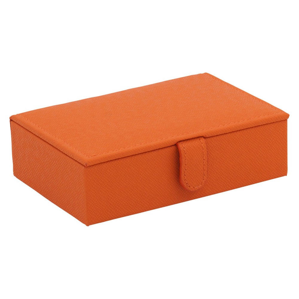 Wolf 3 Compartment Travel Jewelry Case with Mirror - Orange