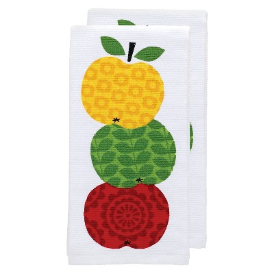 Yellow Apple Stack Print Kitchen Towel (16 x26 )T-Fal