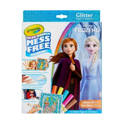 Crayola Color Wonder Glitter Coloring Kit - Disney Frozen 2