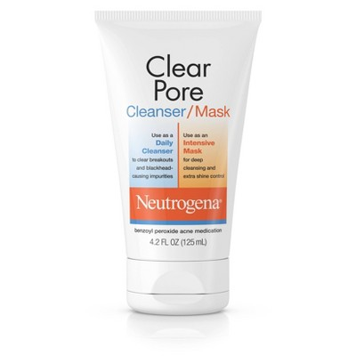 Facial Cleanser: Neutrogena Clear Pore Cleanser Mask