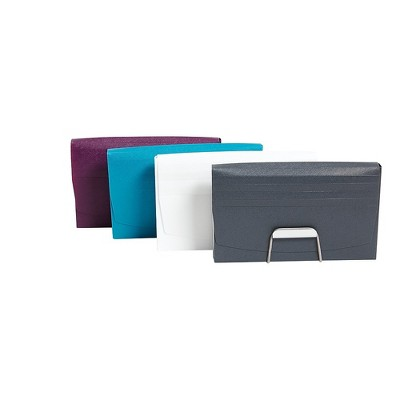 """Staples Plastic Coupon Organizer with 1/2"""" Document CS Assorted Colors(51804) TR51804/51804"""