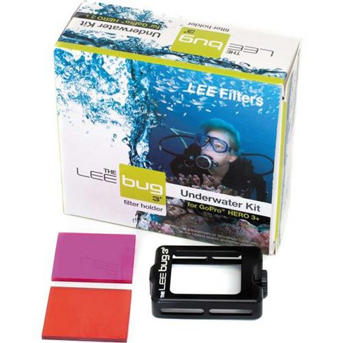 Lee Filters Bug 3 Underwater Kit for GoPro HERO3+, Includes LEE Bug Holder, Blue Water Filter (Red), Green Water Filter (Magenta), Protective Pouch - image 1 of 2