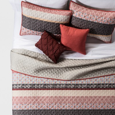 Lizzie Global Stripe Quilt Set (King)5pc