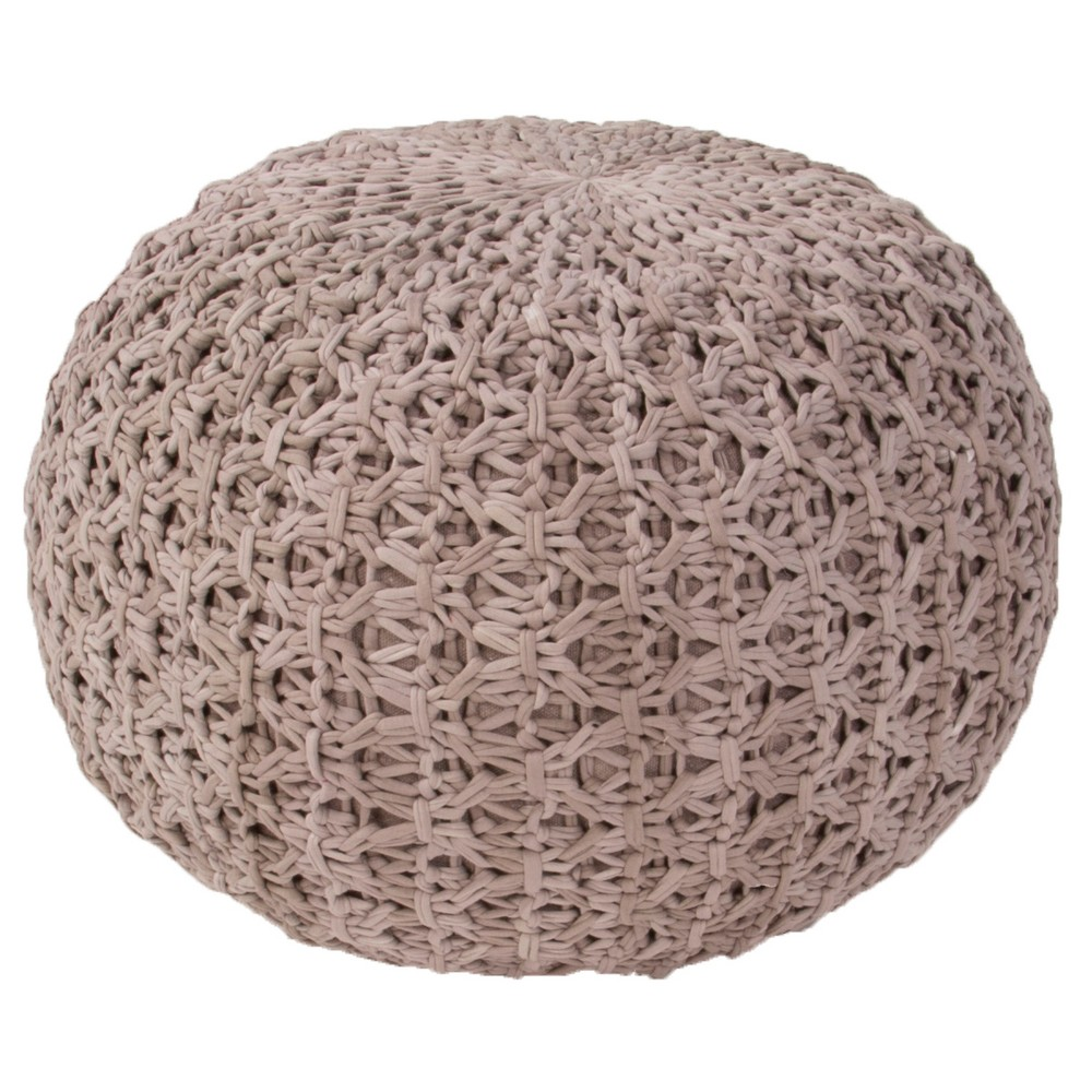 Light Gray Milford By Rug Republic Light Gray Pouf - Jaipur