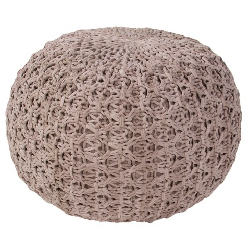 Light Gray Milford By Rug Republic Light Gray Pouf - Jaipur - image 1 of 1