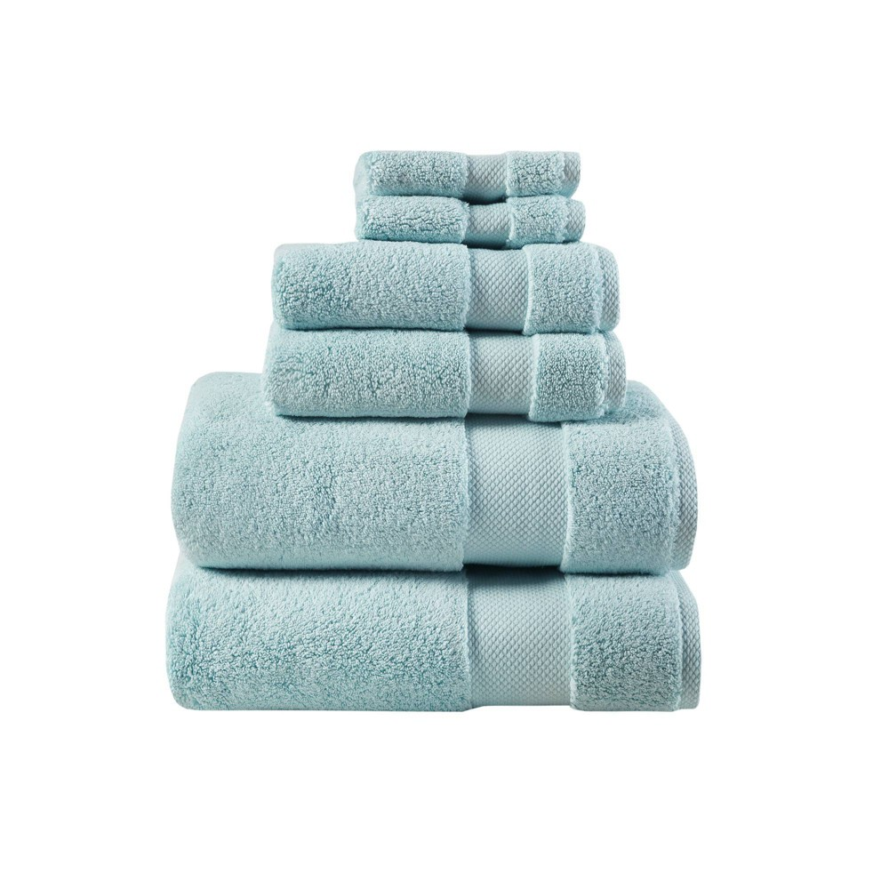 """Image of """"30""""""""x54"""""""" 6pc Luxor Egyptian Cotton Towel Set Mint, Green"""""""