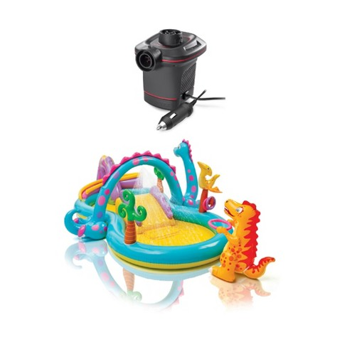 Intex Corded Electric Air Pump w/ Intex Kids Inflatable Play Center Slide - image 1 of 4