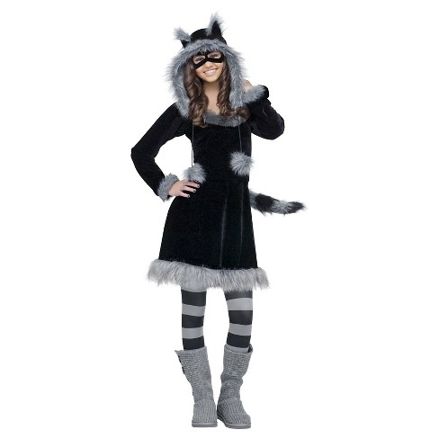 Girls' Sweet Raccoon Teen Costume - One Size Fits Most - image 1 of 1