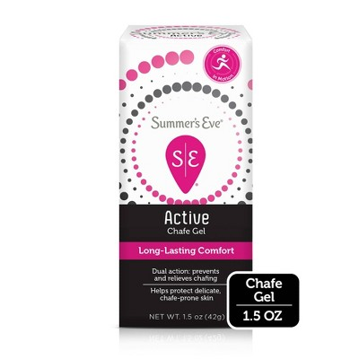 Summer's Eve Active Chafe Gel - Prevents & Relieves Chafing - 1.5oz