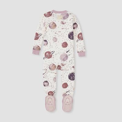Burt's Bees Baby® Baby Girls' Star Galazy Footed Pajama - Pink 12M