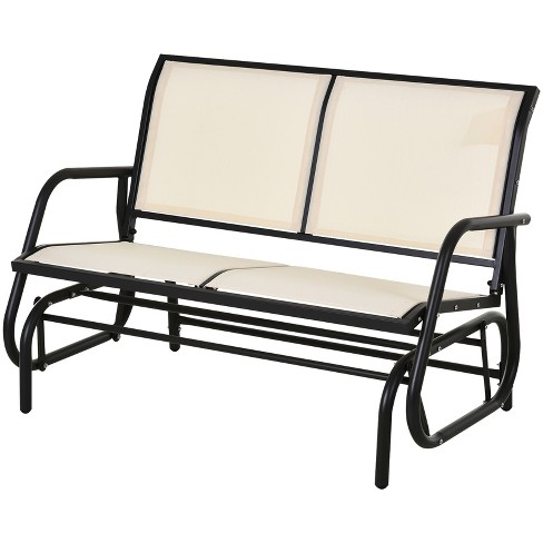 Patio Garden Yard Porch Beige, Outdoor Rocking Bench Seat
