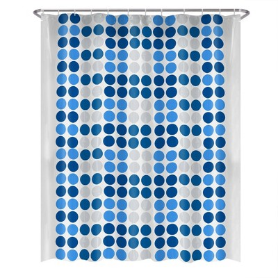 13pc Trina Dot PEVA Shower Curtain and Rings Set - Zenna Home