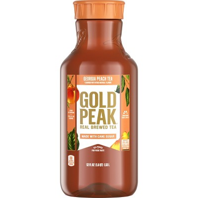 Gold Peak Peach Flavored Iced Tea Drink - 52 fl oz