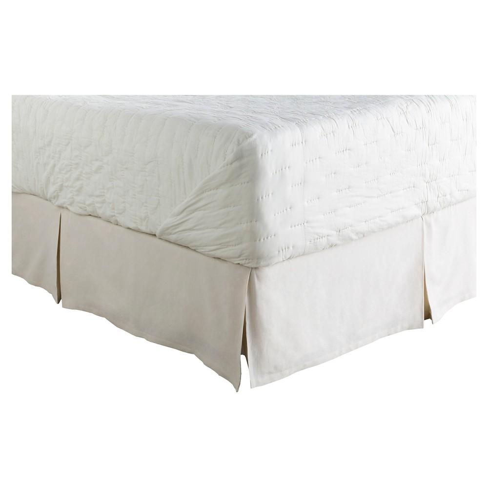 Aldan Luxury Bedding Skirt (King/King CA) Natural - Surya, Beige