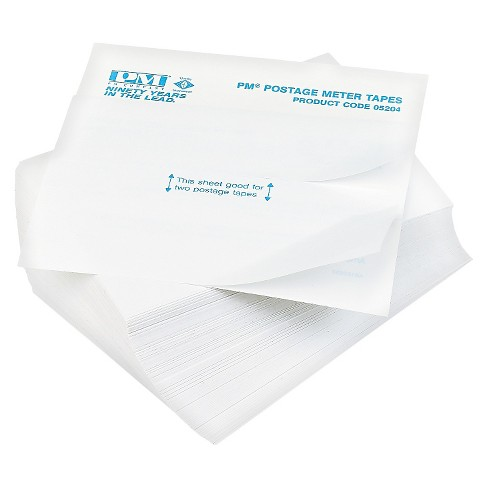 PM Company® Postage Meter Double Tape Sheets, 4 x 5-1/2, 300/Pack - image 1 of 1