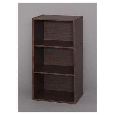 IRIS 3 Shelf Modular Box Brown