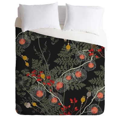 Iveta Abolina Citlali Night Comforter Set Red - Deny Designs
