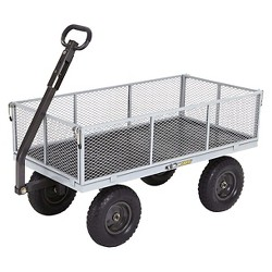 Gorilla Carts Heavy-Duty Steel Utility Cart with Removable Sides and Pneumatic Tires, 1,000-Pound Capacity
