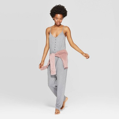 Women's Cozy Lounge Sleep Rompers - Colsie™ Gray M