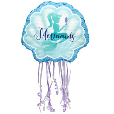 Birthday Express Mermaids Under the Sea Pull String Pinata