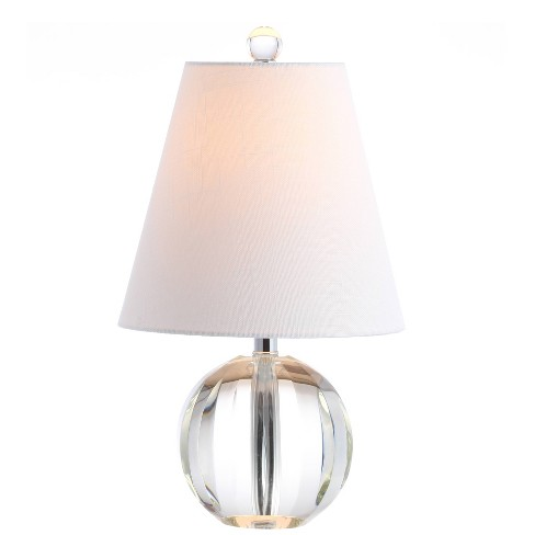 """16"""" Crystal Ball/Metal Goddard Table Lamp (Includes Energy Efficient Light Bulb) Clear - JONATHAN Y - image 1 of 4"""