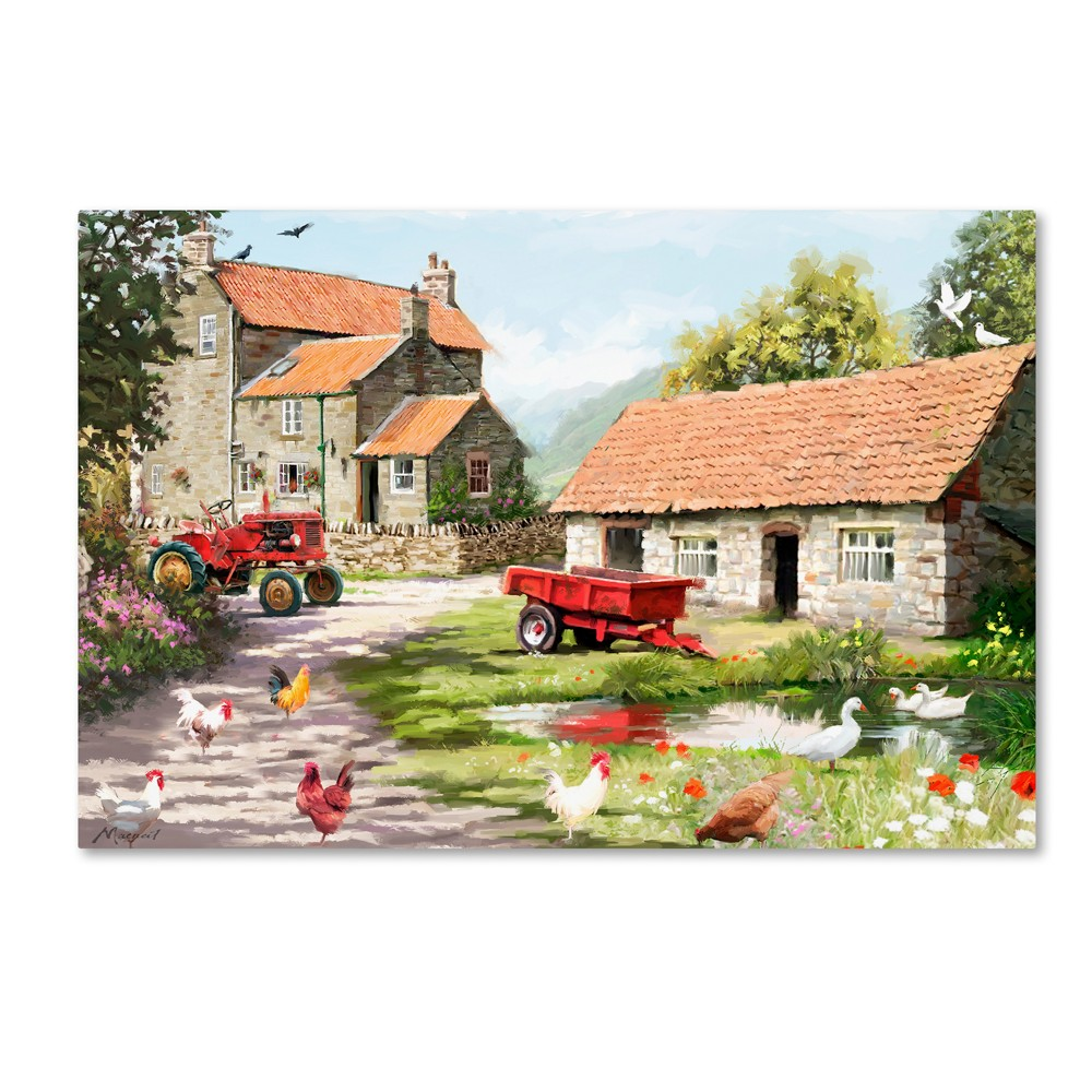 'Farmyard' by The Macneil Studio Ready to Hang Canvas Wall Art, Multicolored