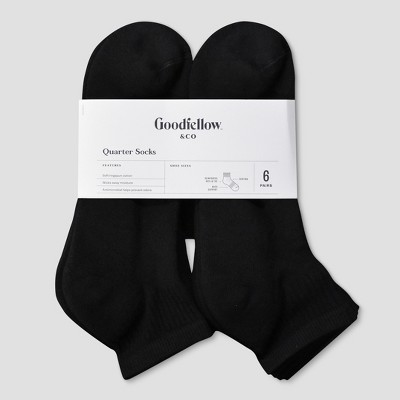 Men's Odor Resistant Quarter Socks 6pk - Goodfellow & Co™ 6-12
