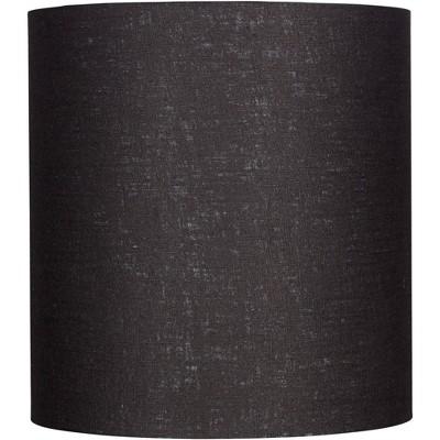 Brentwood Black Tall Linen Drum Shade 14x14x15 (Spider)