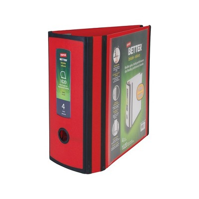 Staples Better 4-inch 3 Ring View Binder Red 1618291
