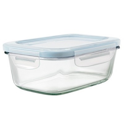 OXO 3.5 Cup Glass Food Storage Container Blue