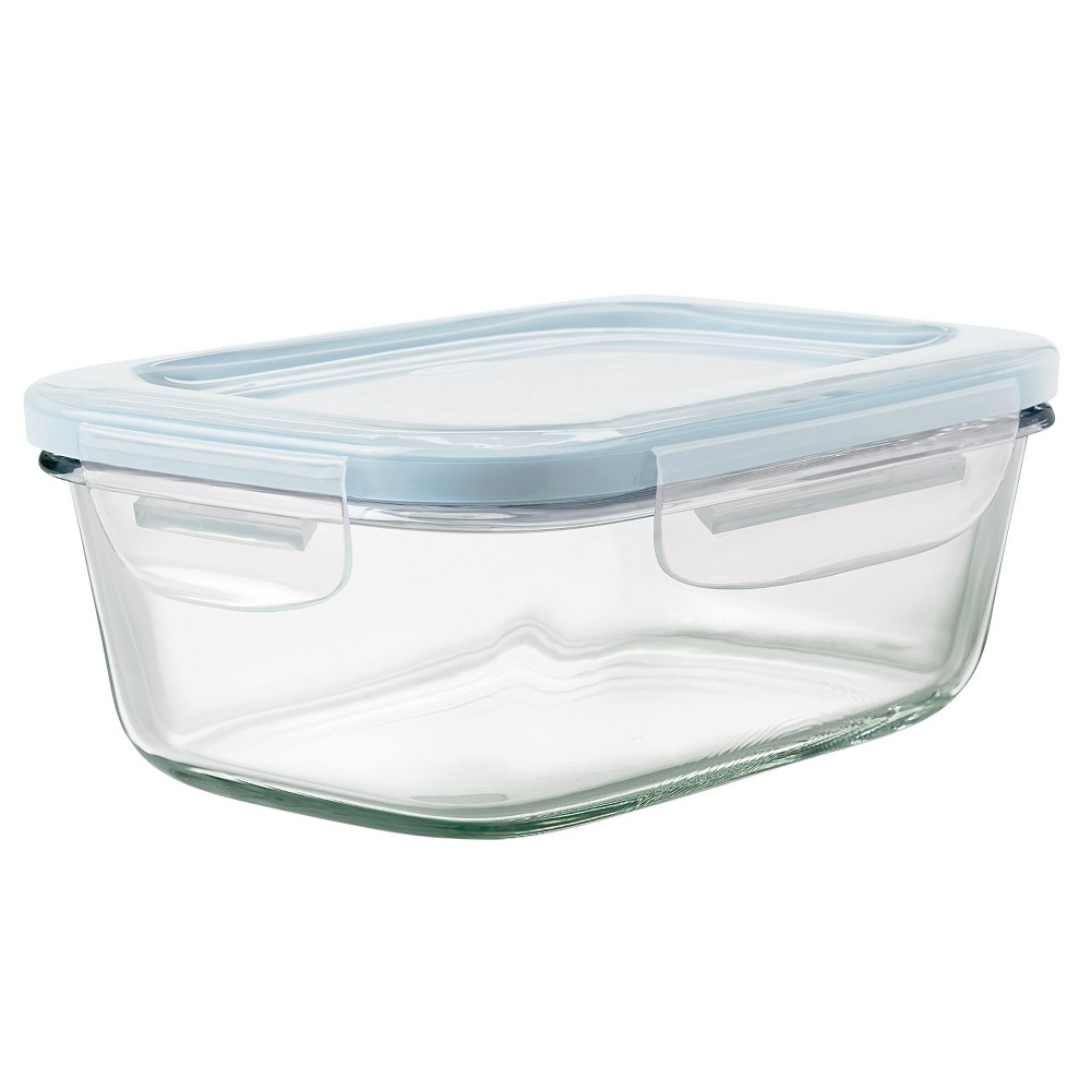 Image of OXO 3.5 Cup Glass Food Storage Container Blue