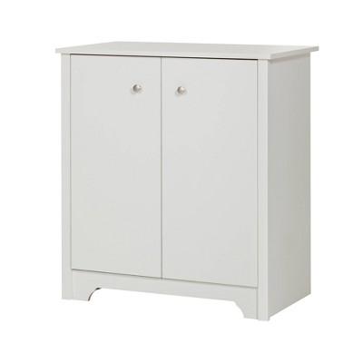 Vito Small 2 Door Storage Cabinet Pure White - South Shore