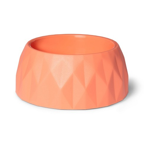 Diamond Cut Food/Drink Bowl For Cats & Dogs - Light Coral - Boots & Barkley™ - image 1 of 3