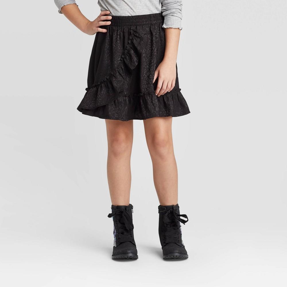 Image of Girls' Animal Skirt - art class Black L, Girl's, Size: Large