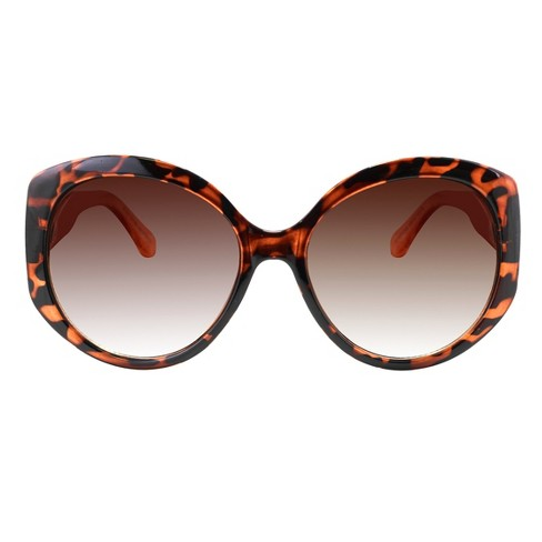 Women's Oversized Sunglasses with Brown Gradient Lens - Brown - image 1 of 2