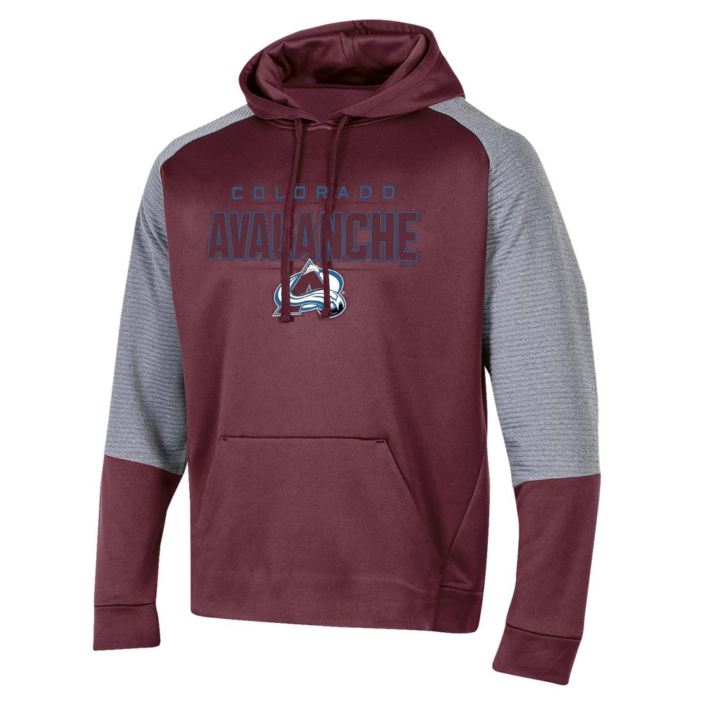 Nhl Colorado Avalanche Men 39 S Edge Poly Textured Hoodie Gray S
