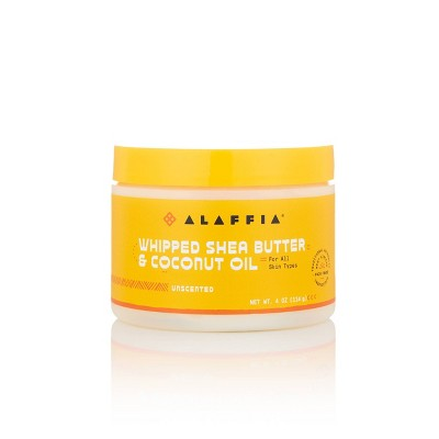 Alaffia Whipped Shea Butter & Coconut Oil Body Lotion - Unscented - 4 fl oz